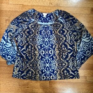 SPECTACULAR PRINT CHICO'S TOP